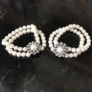 Jewelry - Two stretch bead bracelets.